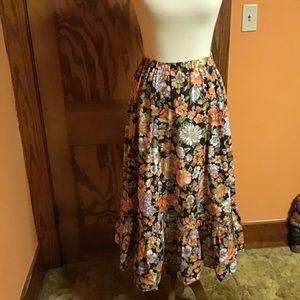 Vintage Skirts - Vintage handmade prairie ruffle hippie chic skirt